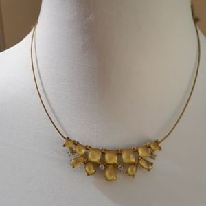 Necklace, gold tone